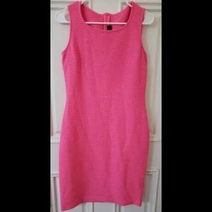 St. John Textured Wool Blend Pink Dress